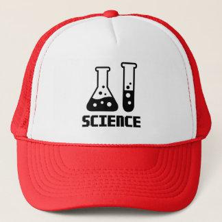 Boné Ciência - tubo de ensaio e garrafa cónica