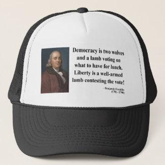 Boné Citações 2b de Ben Franklin