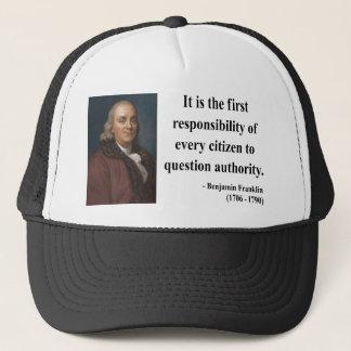 Boné Citações 3b de Ben Franklin