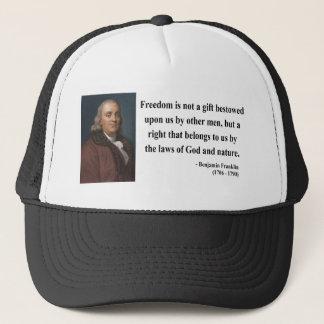 Boné Citações 4b de Ben Franklin