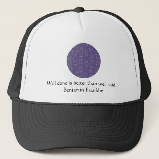 Boné Citações de Benjamin Franklin com design primitivo
