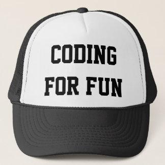 Boné Codificação para o chapéu do divertimento