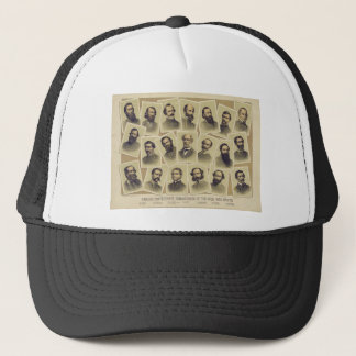 Boné Comandantes confederados famosos da guerra civil