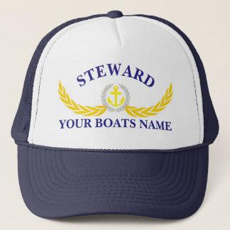 Boné Comissário de bordo personalizado do motivo da