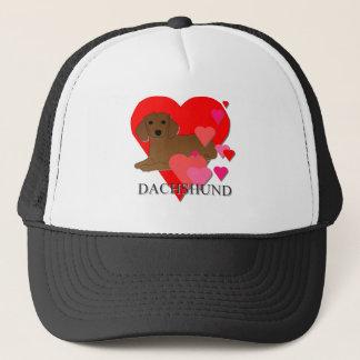 Boné Corações do Dachshund