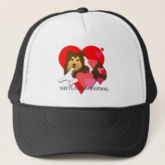 Boné Corações do Sheepdog de Shetland