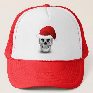 Boné Crânio Papai Noel do gótico do Natal