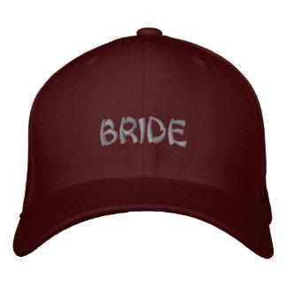 Boné da noiva no marrom vermelho com o roteiro