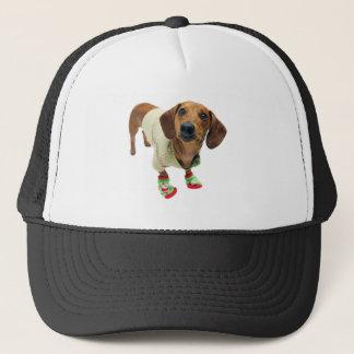 Boné Dachshund - Feliz Natal - cão bonito