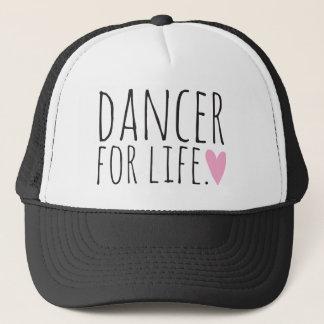 Boné Dançarino para o preto da vida com coração