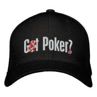 Boné de beisebol bordado póquer obtido