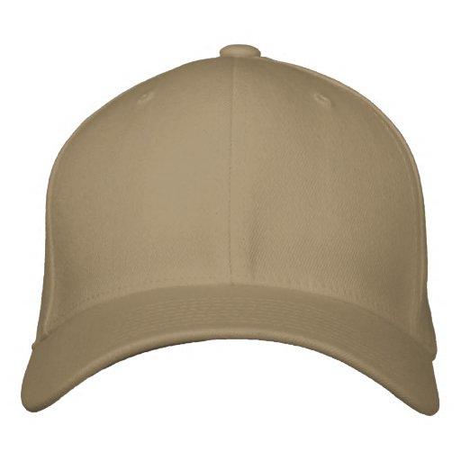 Cáqui Boné básico de lã Flexfit Embroidered Hat