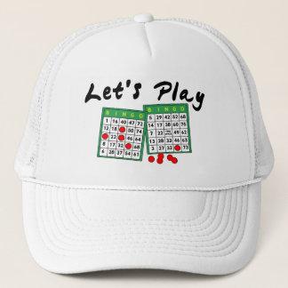 Boné Deixe-nos jogar o Bingo