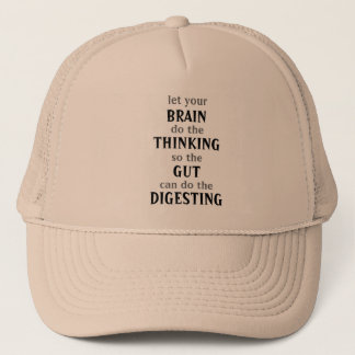 Boné Deixe seu cérebro pensar o chapéu