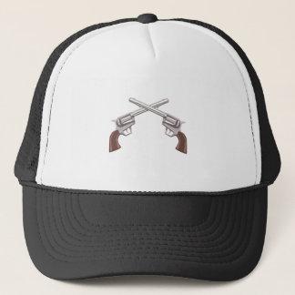 Boné Desenho do revólver da pistola isolado em