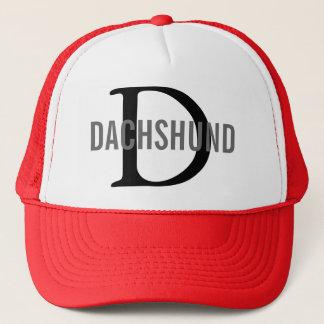 Boné Design do monograma da raça do Dachshund