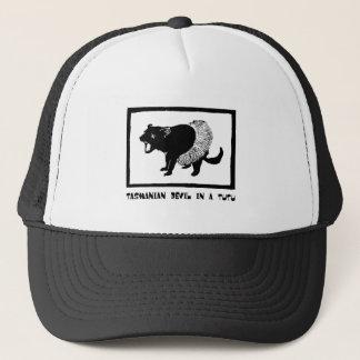 Boné Diabo tasmaniano em um tutu
