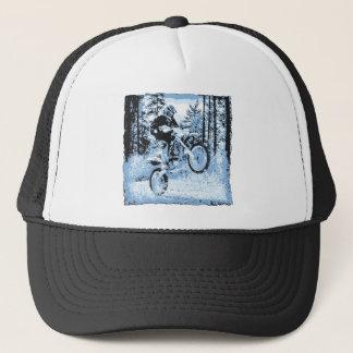 Boné dirtbike azul que roda em woods1 12x