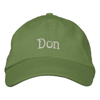 Boné do desenhista conhecido de DON