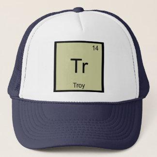 Boné Do elemento conhecido da química de Troy mesa