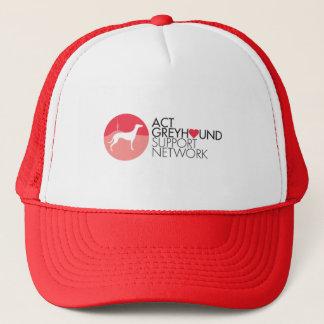 Boné do logotipo da rede do apoio do galgo do ATO