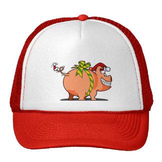 Boné do Natal da fita do porco