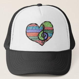 Boné Doodle customizável do Clef de triplo do coração