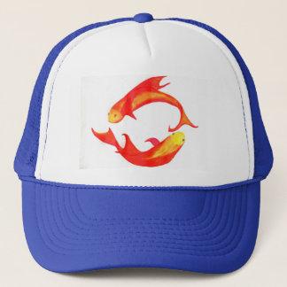 "Boné Dos ""chapéu do camionista peixes"