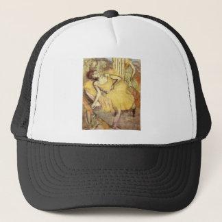 Boné Edgar Degas - dançarino de assento com o pé
