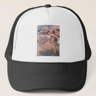 Boné Edgar Degas - dançarino em meninas cor-de-rosa da
