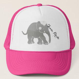 Boné Elefante cinzento bonito do vintage da noiva da