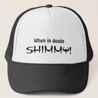"Boné ""Em caso de dúvida SHIMMY! do ""chapéu bellydance"
