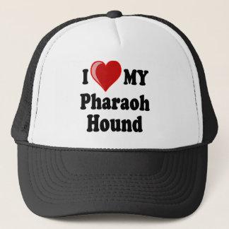 Boné Eu amo (coração) meu cão de cão do faraó