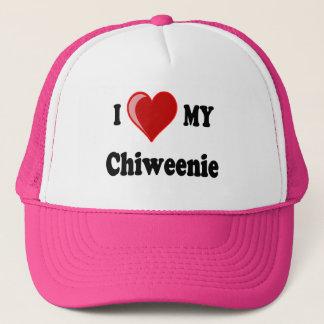 Boné Eu amo (coração) meu cão de Chiweenie