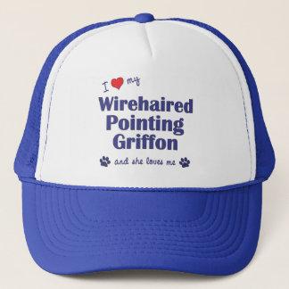 Boné Eu amo meu apontar Griffon Wirehaired (o cão