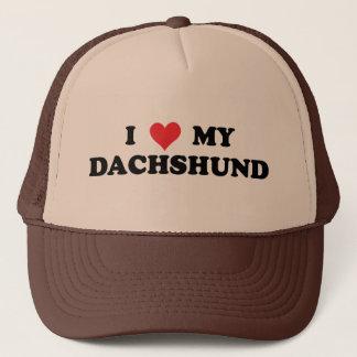 Boné Eu amo meu Dachshund