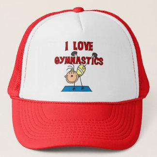 Boné Eu amo o camiseta e os presentes da ginástica