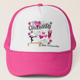Boné Eu amo o chapéu da ginástica