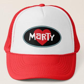 Boné EU AMO o chapéu do camionista de MARTY