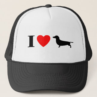 Boné Eu amo o chapéu dos Dachshunds