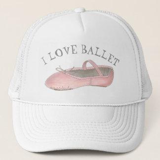 Boné Eu amo o professor da dança do deslizador do rosa