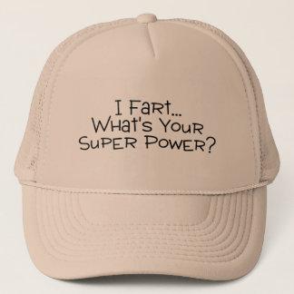 Boné Eu Fart o que é seu poder super 2