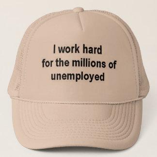 Boné Eu trabalho o duro para milhões de desempregados
