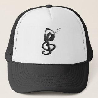 Boné G-clef do símbolo de música com auriculares
