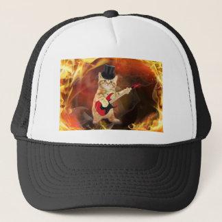 Boné gato do balancim nas chamas