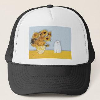 Boné Girassóis - gatinho persa branco 49