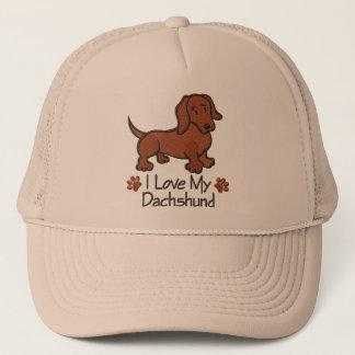 "Boné ""I love my dachshund"""