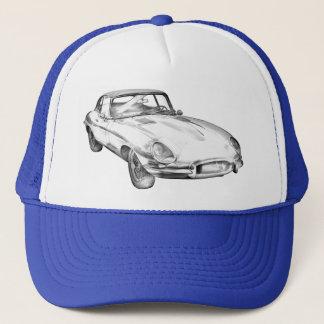 Boné Ilustração 1964 antiga do carro de esportes de