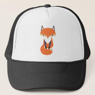 Boné Ilustração pequena bonito do Fox vermelho