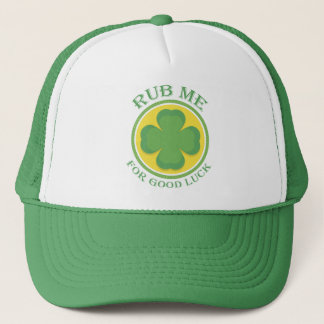 Boné Irlandês friccione-me para o trevo da boa sorte